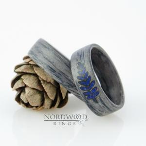 Dąb szary i paproć z lapisu lazuli