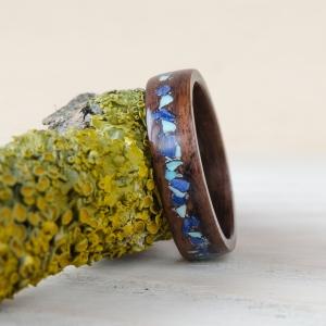 Palisander z turkusem i lapisem lazuli