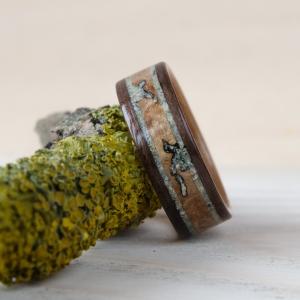 Heban makassar, czereśnia i wavona z turkusem zielonym